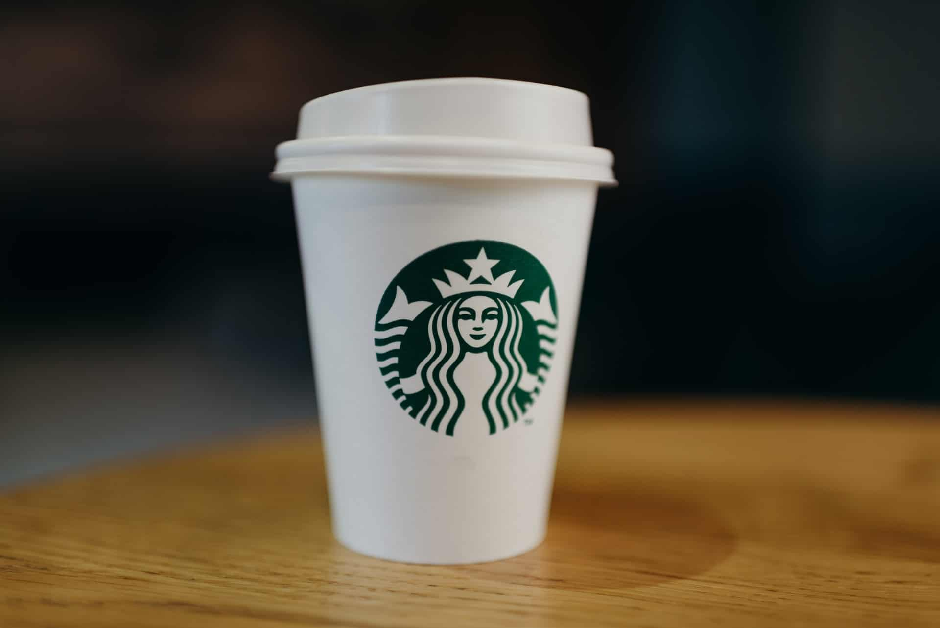 Starbucks logo on coffee